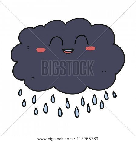 freehand drawn cartoon raincloud
