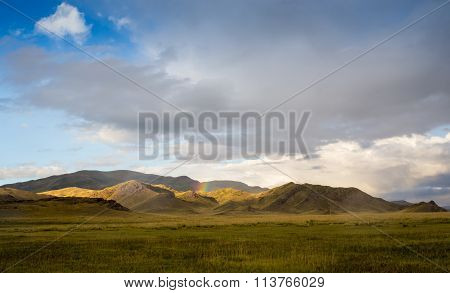 It is hard to make an interesting photo monotonous endless steppe.