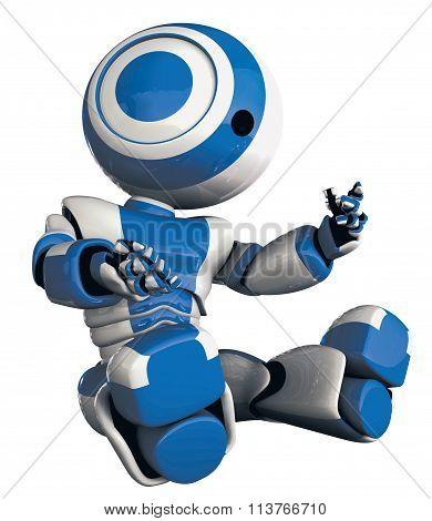 Glossy Robot Inspecting Himself