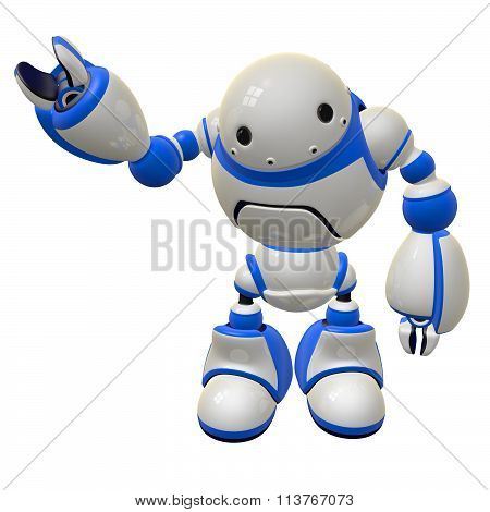 Software Security Concept Robot Waving Right Side