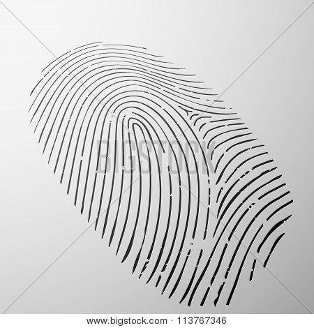 Fingerprint Human. Stock Illustration.