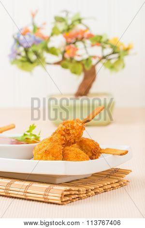 Coconut Chicken Closeup