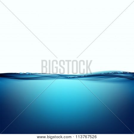 Water Surface. Stock Illustration.