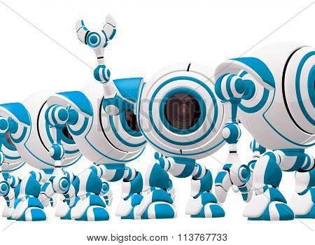 Blue and White Robot Line