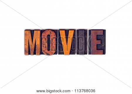 Movie Concept Isolated Letterpress Type