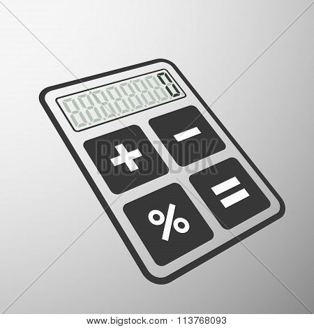 Calculator. Stock Illustration.