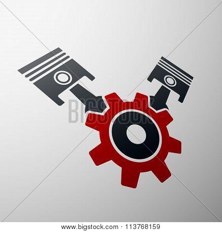 Automobile Engine. Stock Illustration.