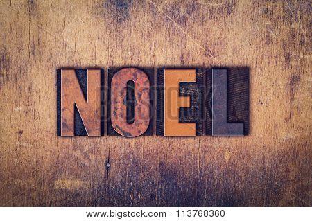 Noel Concept Wooden Letterpress Type