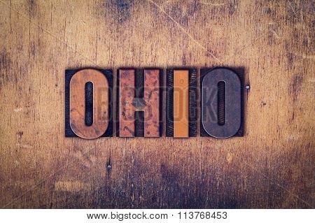 Ohio Concept Wooden Letterpress Type