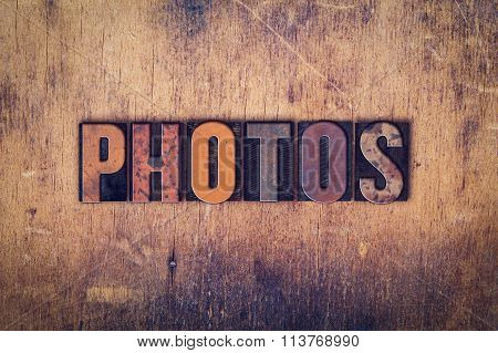 Photos Concept Wooden Letterpress Type