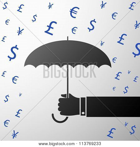 Currencies. Stock Illustration.