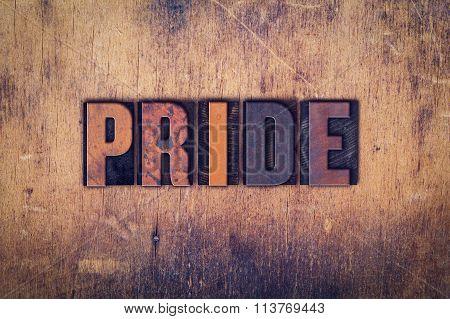 Pride Concept Wooden Letterpress Type