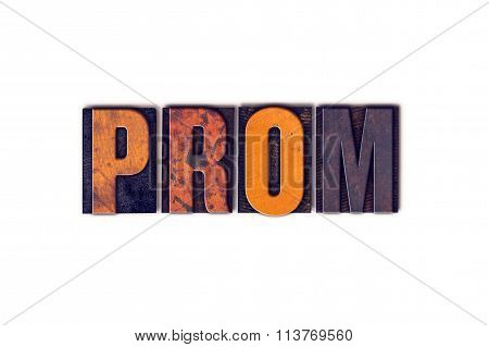 Prom Concept Isolated Letterpress Type