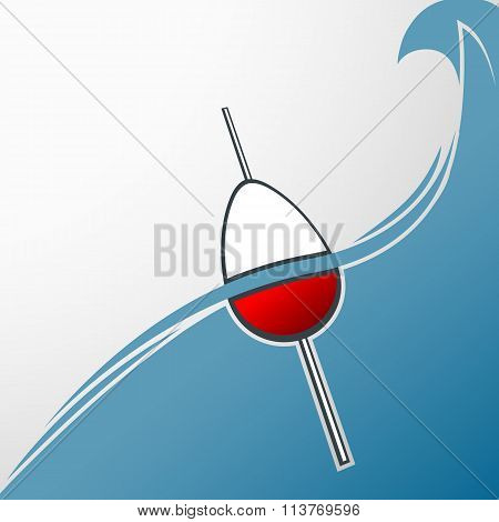 Fishing Background. Stock Illustration.