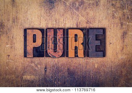 Pure Concept Wooden Letterpress Type