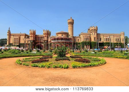 BANGALORE, INDIA - Dec 13: Bangalore Palace in India on Dec 13, 2015 The Bangalore Palace was built by a Wodeyar King in 1887 on the 400 acre space. Inspired by the Windsor castle.