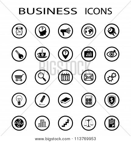 Business Icons. Stock Illustration.