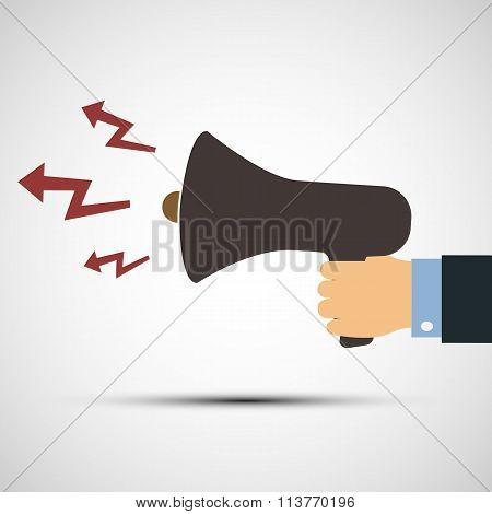 Megaphone. Stock Illustration.