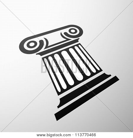 Marble Columns. Stock Illustration.
