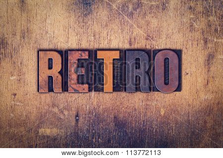 Retro Concept Wooden Letterpress Type