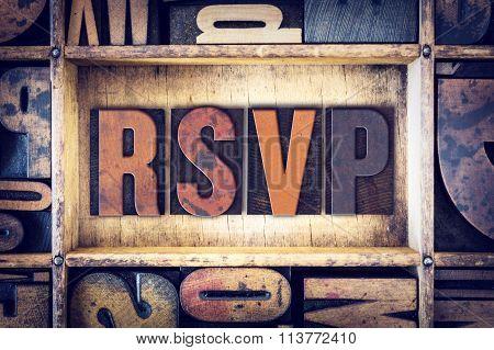 Rsvp Concept Letterpress Type
