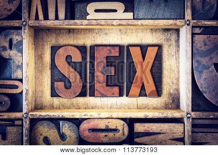 Sex Concept Letterpress Type