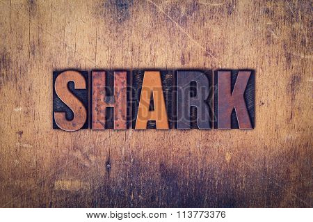 Shark Concept Wooden Letterpress Type