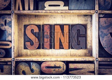 Sing Concept Letterpress Type