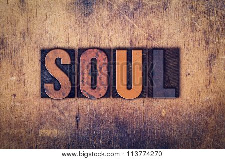 Soul Concept Wooden Letterpress Type