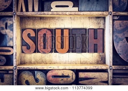South Concept Letterpress Type