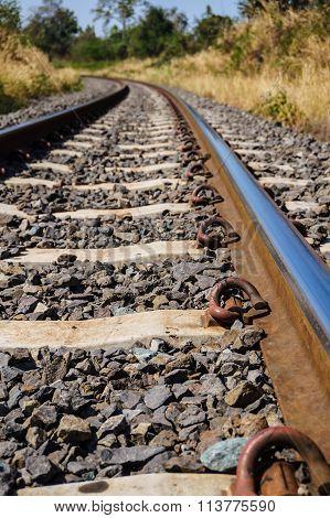 Railroad Amid Drought