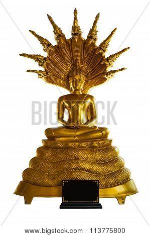 Buddha Statue Under Serpent