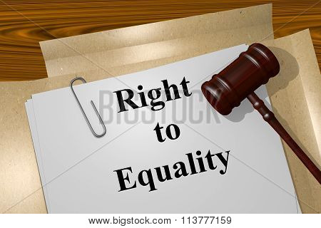 Right To Equality Concept