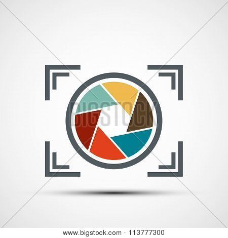 Icon Camera. Stock Illustration.