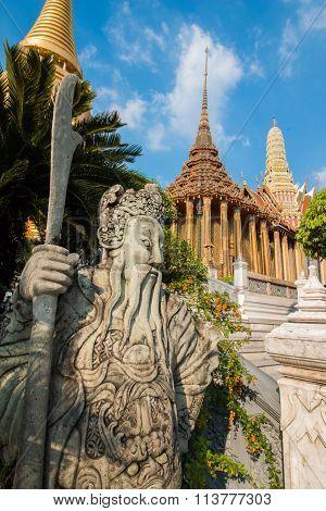 Temple of the Emerald Buddha; full official name Wat Phra Si Rattana Satsadaram in Bangkok, Thailand