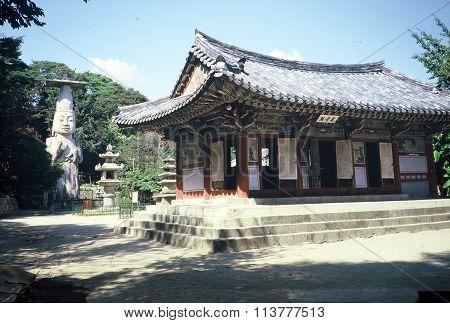 Eunjin-Mireuk Standing Stone Buddha at the Gwanchok-sa Temple