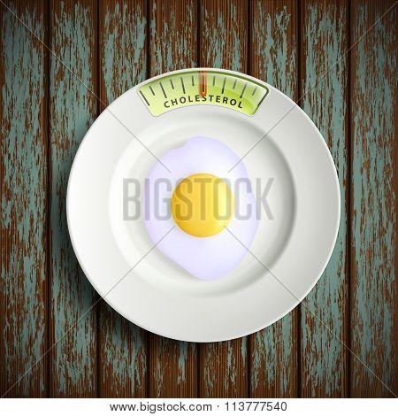 Scrambled Eggs. Stock Illustration.