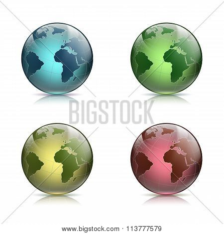 Planet Earth. Stock Illustration.