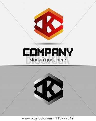 Alphabet symbol with Letter K