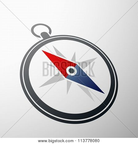 Compass Logo. Stock Illustration.