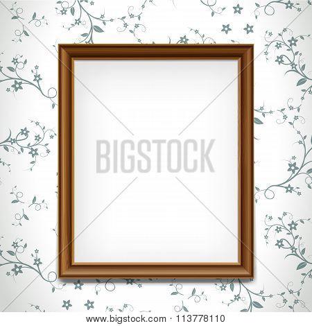 Wooden Frame. Stock Illustration.