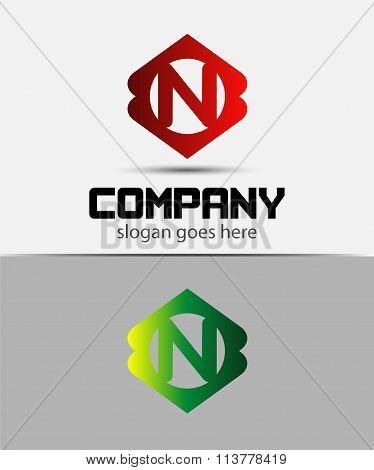 Letter N Logo Design.Creative Symbol of letter N