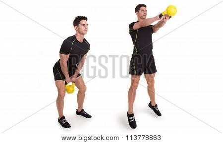 Kettlebell, Shoulder Swing Jump, Exercise