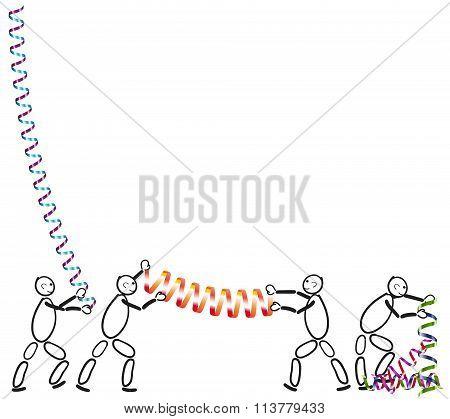 Stick Figure Prepare Carnival