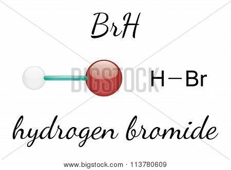 HBr hydrogen bromide molecule
