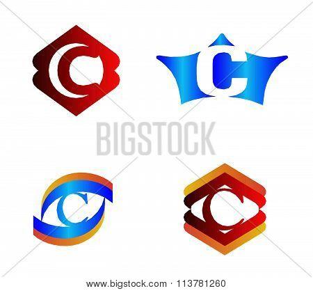 Letter C set Alphabetical Logo Design Concepts
