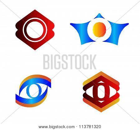 Letter O set Alphabetical Logo Design Concepts