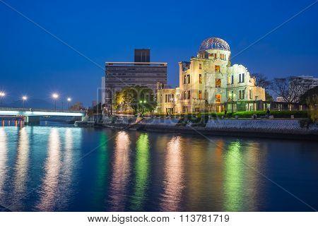 Atomic Dome Memorial Ruins In Hiroshima, Japan