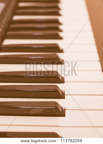 Music Keyboard Keys Vintage