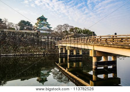 Osaka Castle Landmark Of Osaka In Japan